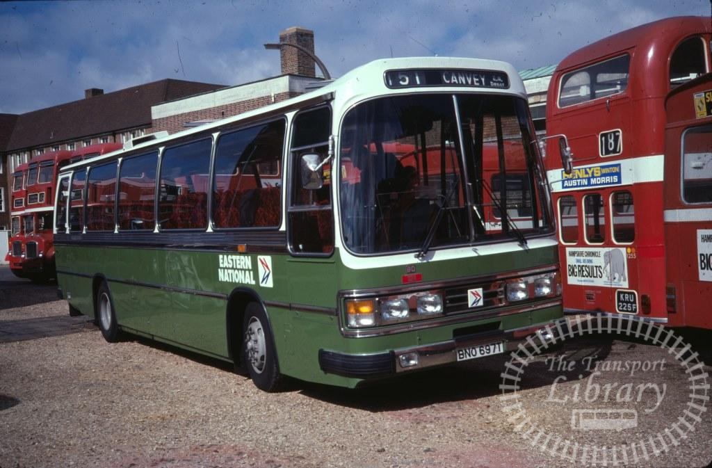 Eastern National Bedford YMT 80 BNO697T in 1978 on route 151 - 24/09/1978 - Ron Wellings