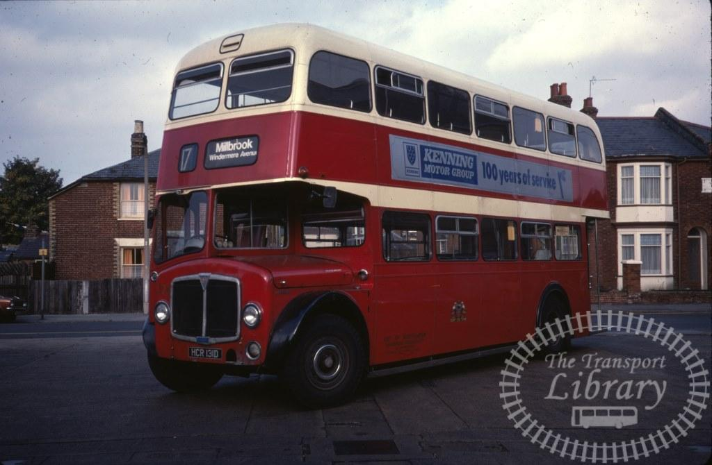 Southampton City Transport AEC Regent V 374 HCR131D in 1978 on route 17 - 24/09/1978 - Ron Wellings