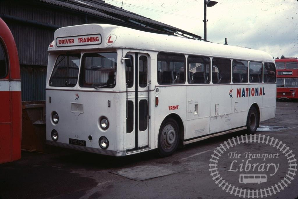 Trent Leyland Leopard A54 YRC194 in 1978 on route Unknown - 08/07/1978 - Ron Wellings