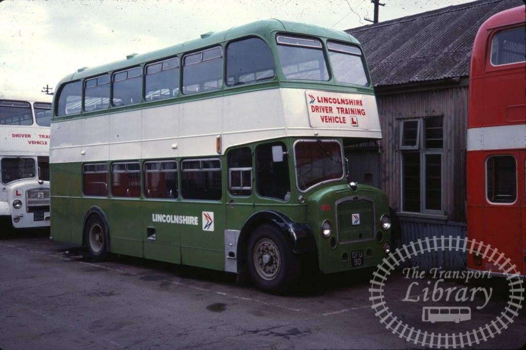 Lincolnshire Bristol Lodekka DFU90 in 1978 on route Unknown - 08/07/1978 - Ron Wellings