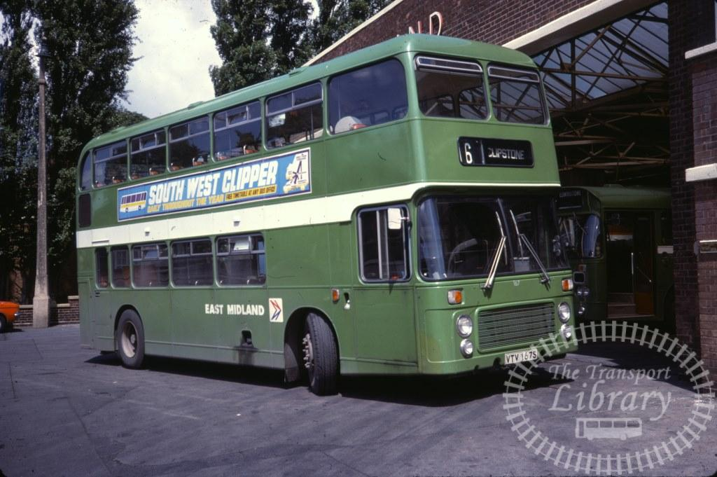 East Midland Bristol VR 167 VTV167S in 1978 on route Unknown - 08/07/1978 - Ron Wellings