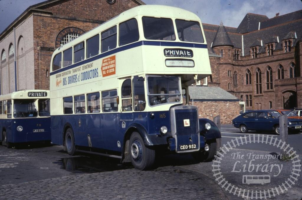 Barrow Leyland Titan PD2/40 165 CEO952 in 1978 on route Unknown - 25/09/1978 - Ron Wellings