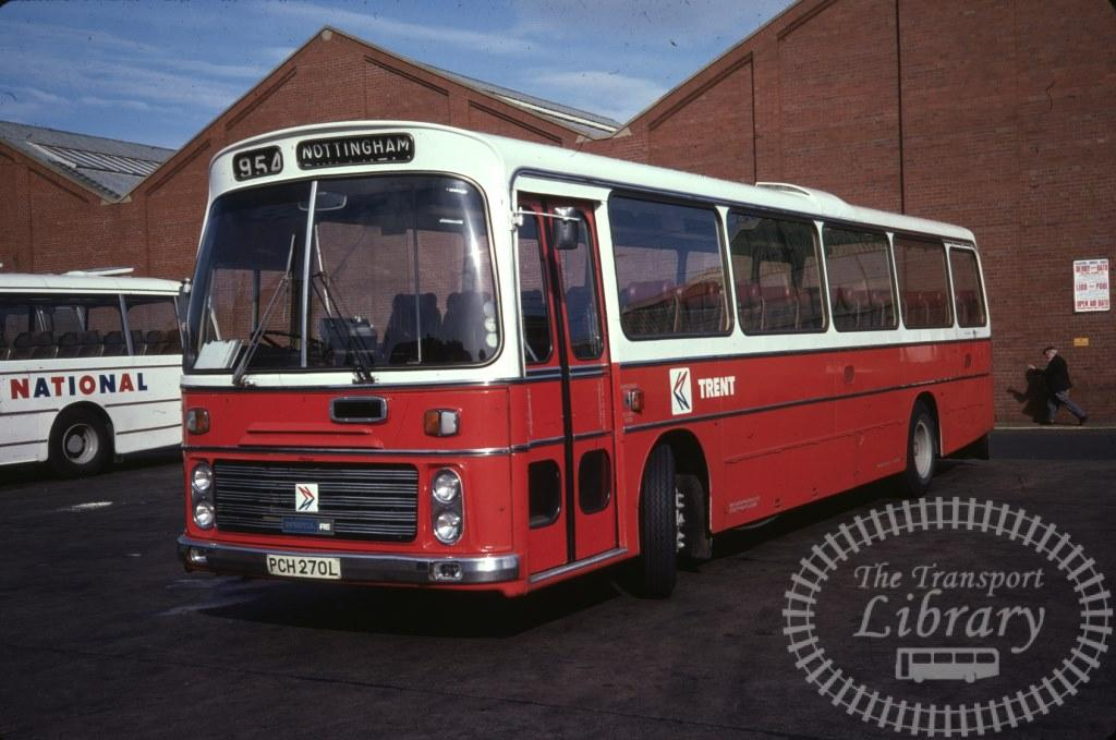 Trent Bristol RE 270 PCH270L in 1978 on route 954 - 26/09/1978 - Ron Wellings