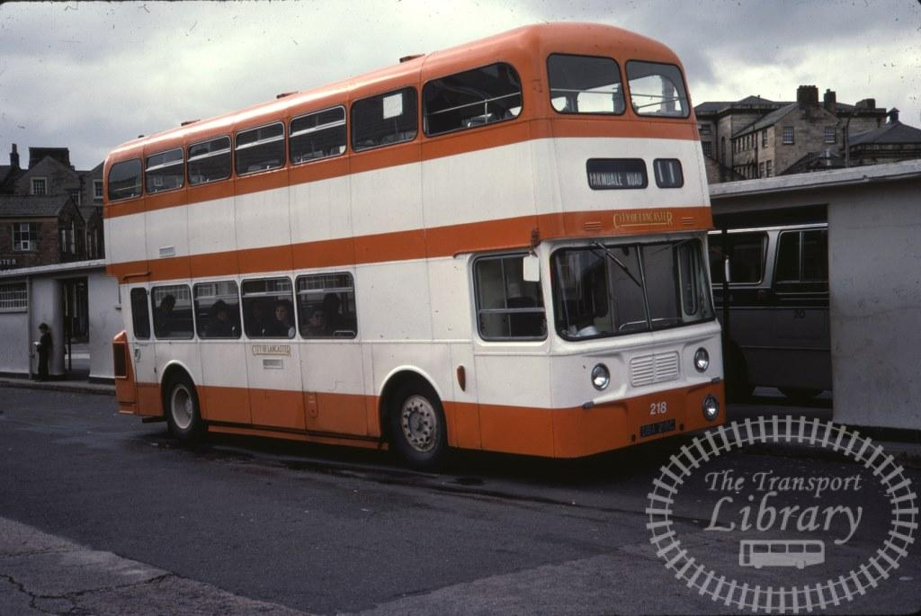 City of Lancaster Leyland Atlantean 218 DBA218C in 1978 on route 11 - 30/09/1978 - Ron Wellings