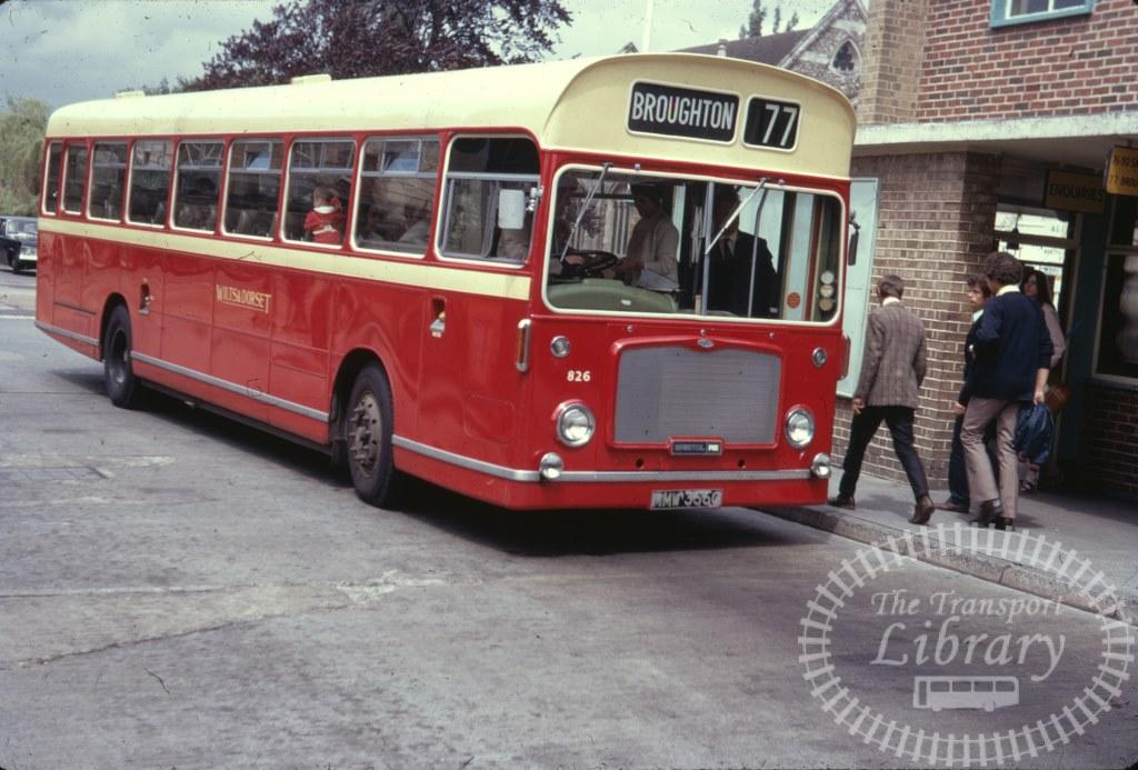 Wilts and Dorset Bristol RELL 826 MMW356G in 1971 on route 77 - 30/06/1971 - Ron Wellings