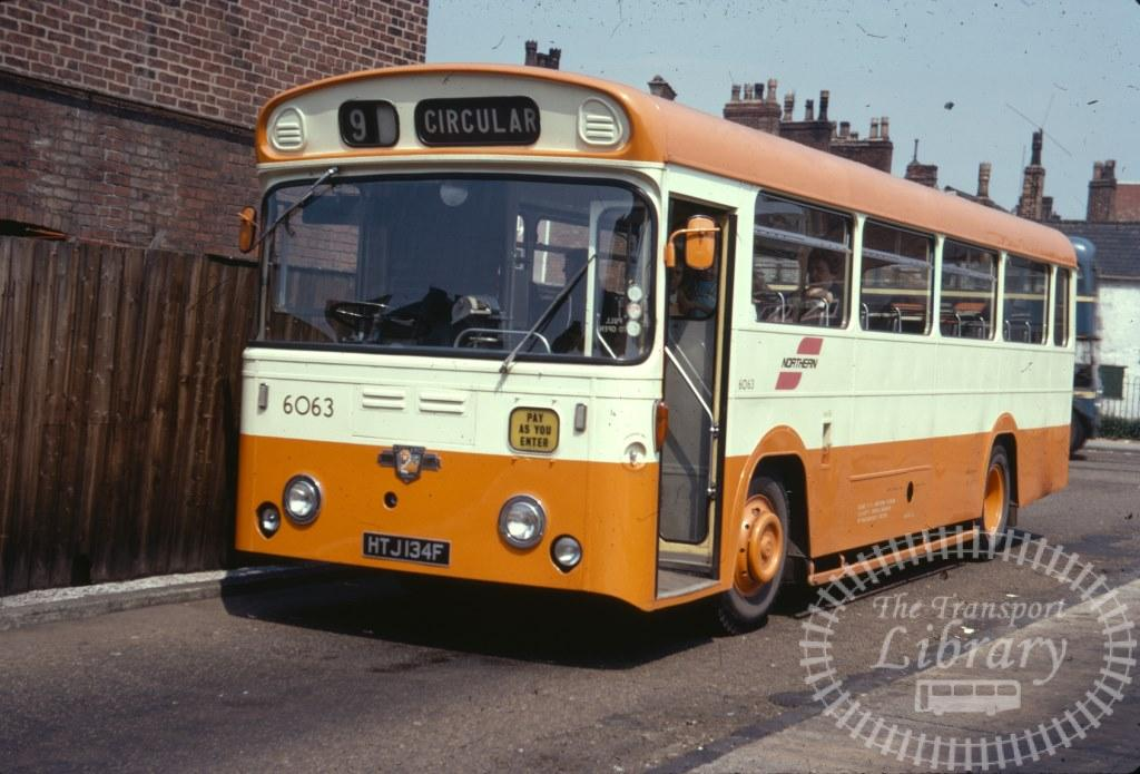 Selnec Northern Leyland Leopard 6063 HTJ134F in 1971 on route 9 - 27/06/1971 - Ron Wellings
