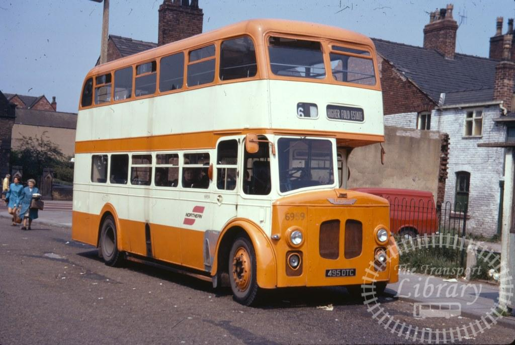 Selnec Northern Leyland Titan PD2/30 6959 495DTC in 1971 on route 6 - 27/06/1971 - Ron Wellings