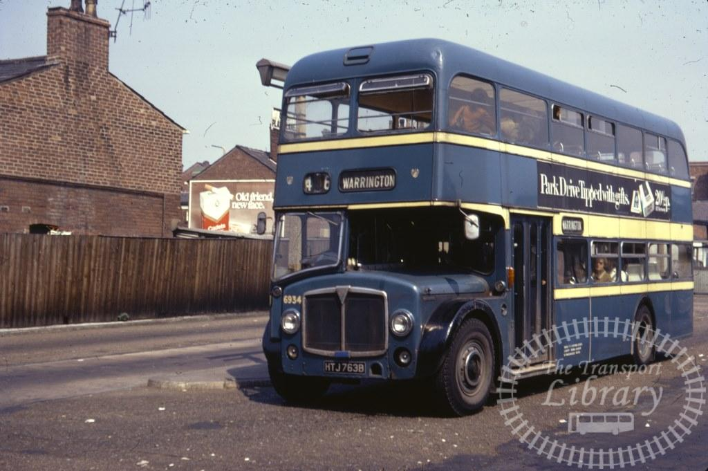Leigh Corporation AEC Renown 6934 HTJ763B in 1971 on route 46 - 27/06/1971 - Ron Wellings
