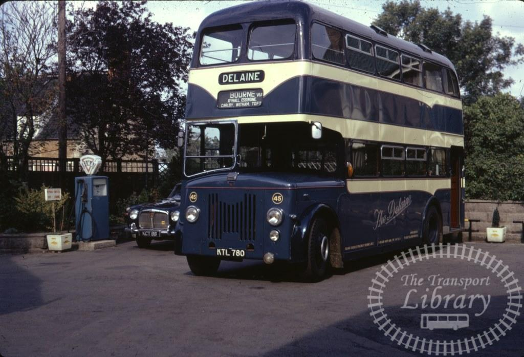 Delaine Leyland Titan PD2/20 45 KTL780 in 1970 on route Unknown - 09/08/1970 - Ron Wellings