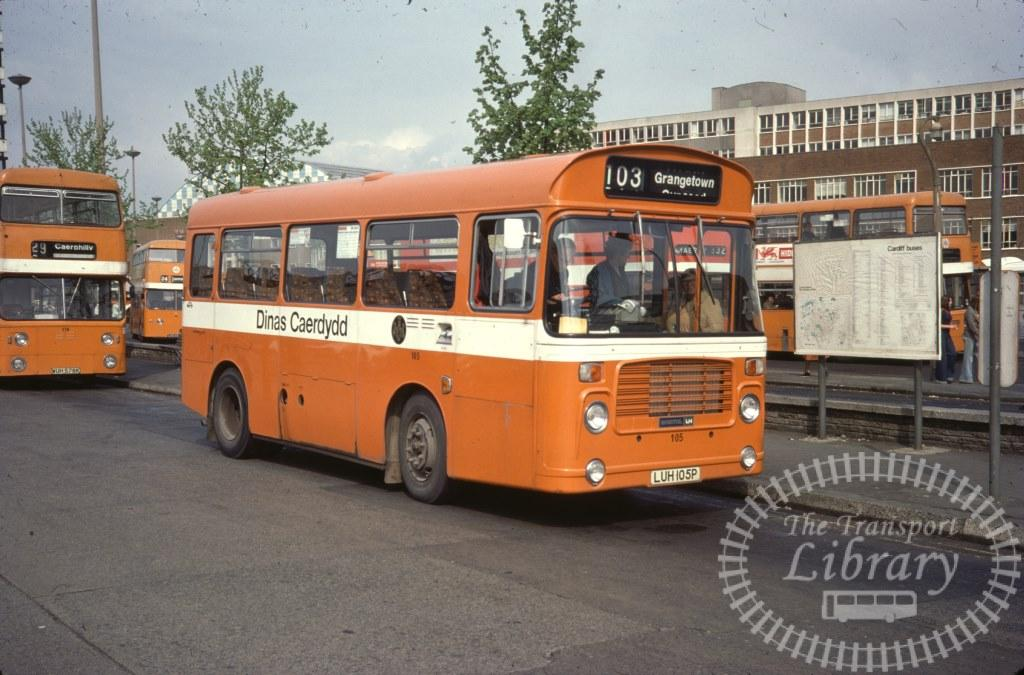 City of Cardiff Transport Bristol LH 105 LUH105P in 1977 on route 103 - 04/05/1977 - Ron Wellings