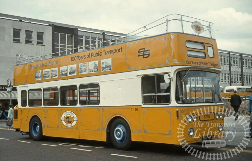 Tyne and Wear Transport Leyland Atlantean 1218 KBB118D in 1979 on route Unknown - Ron Wellings