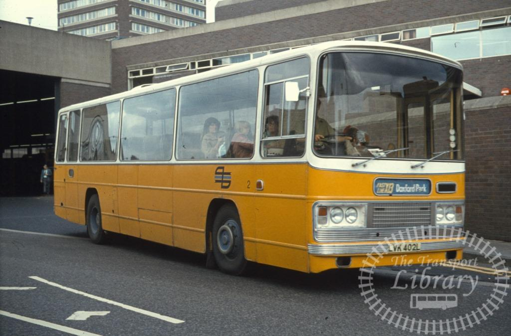 Tyne and Wear Transport Leyland Leopard 2 LVK402L in 1979 on route X13 - Ron Wellings