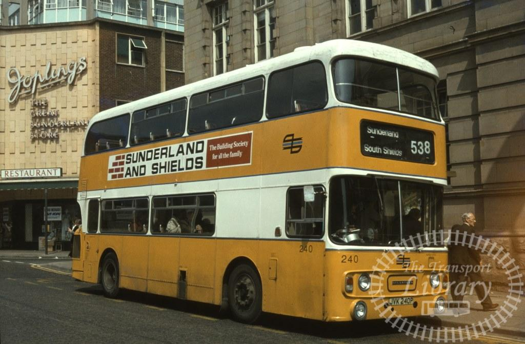 Tyne and Wear Transport Leyland Atlantean 240 JVK240P in 1979 on route 538 - Ron Wellings