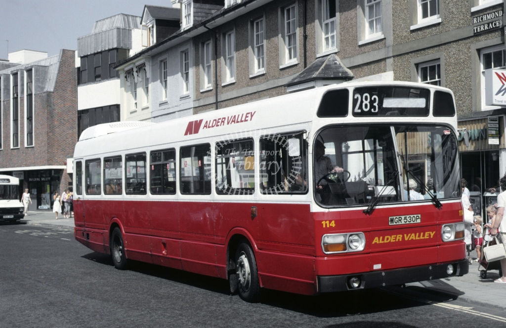 Alder Valley Leyland National 114 MGR530P  at Horsham  in 1987 -  Aug  - Roy Marshall