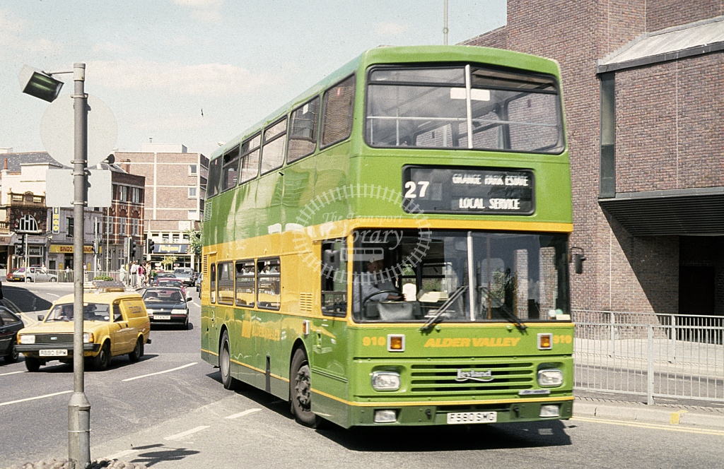 Alder Valley Leyland Olympian 910 F580SWS  at Guildford  in 1989 - Roy Marshall