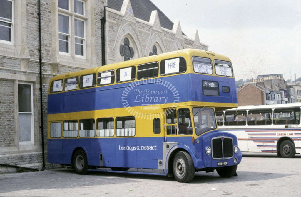 Hastings & District AEC Regent V MFN846F  in 1987 - May - Roy Marshall