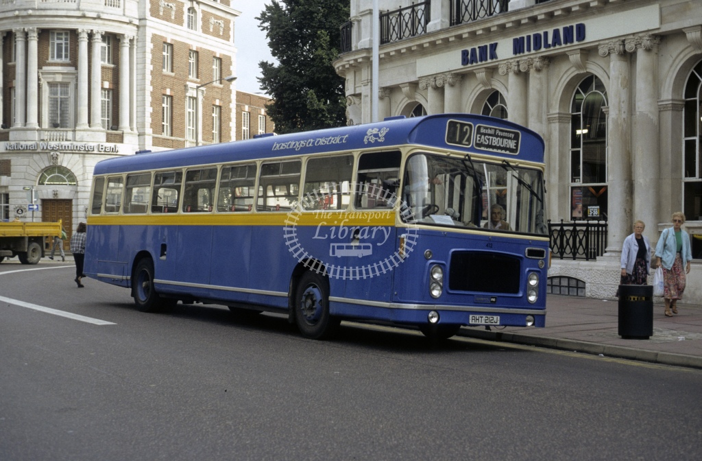 Hastings & District Bristol RELL 412 AHT212J  at Eastbourne  in 1989 - Sep - Roy Marshall