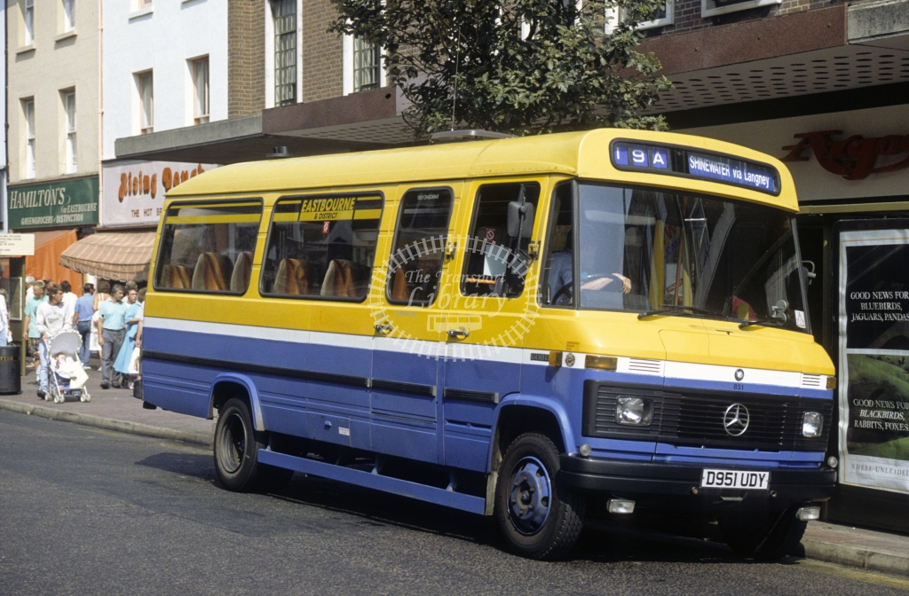 Hastings & District Mercedes L608D 851 D951UDY  in 1989 - Sep - Roy Marshall