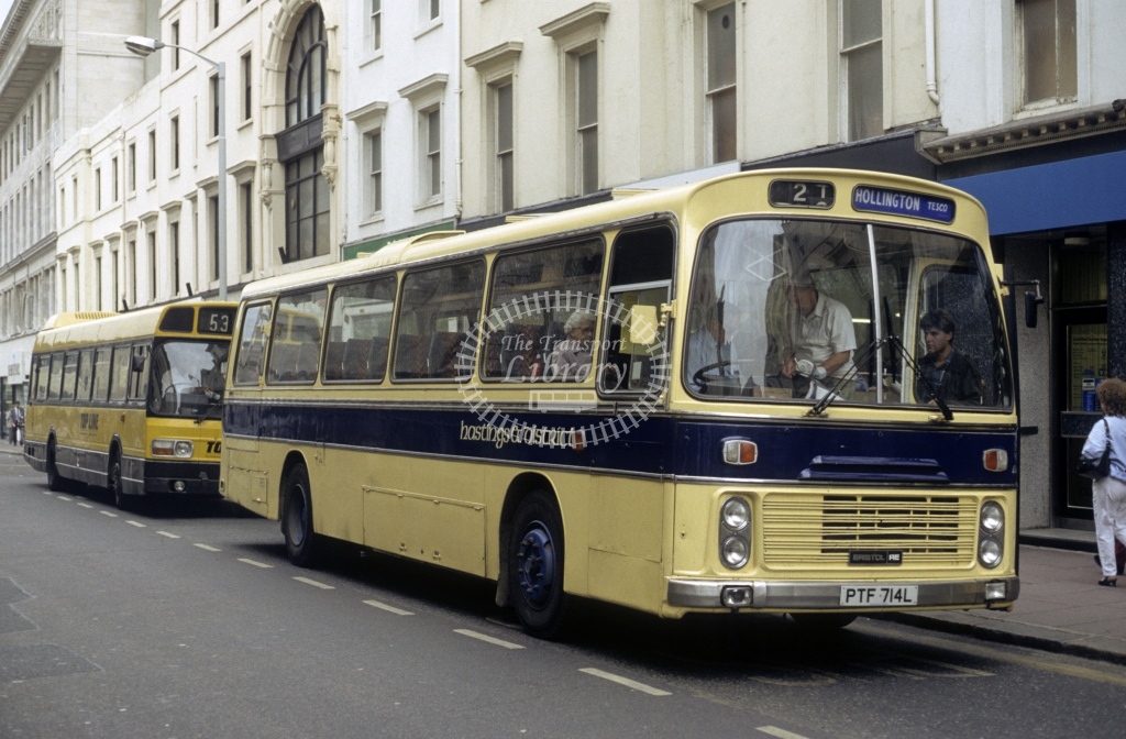 Hastings & District Bristol RELH 414 PTF714L  in 1989 - Sep - Roy Marshall