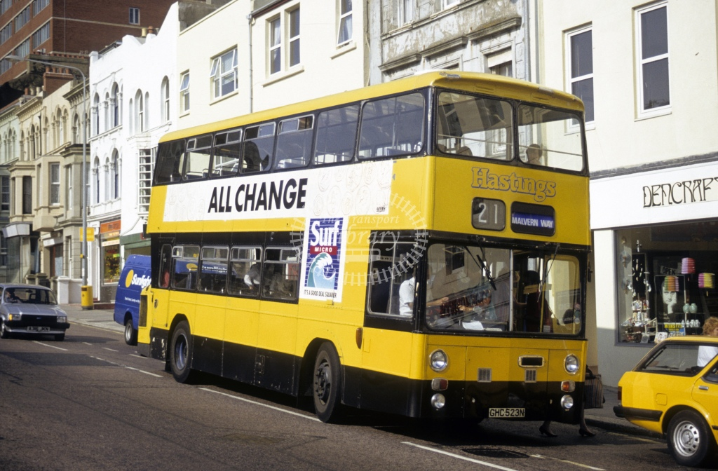 Hastings & District Leyland AN68 523 GHC523N  in 1991 -  - Roy Marshall