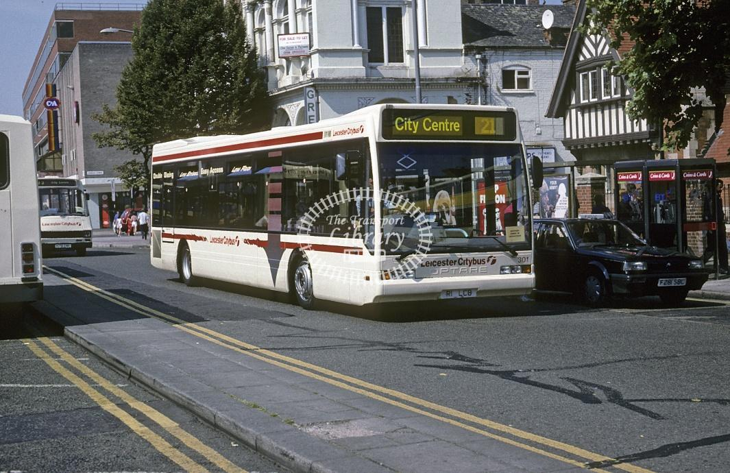 Leicester Optare Excel 301 R1LCB at Leicester Area in 1997 - Aug 1997 - Roy Marshall