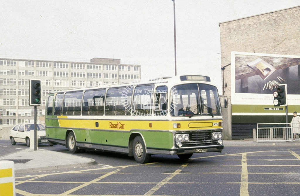 Lincolnshire Road Car Leyland PSU3E 1475 SCH636R  at Nottingham  in 1989 - Aug - Roy Marshall