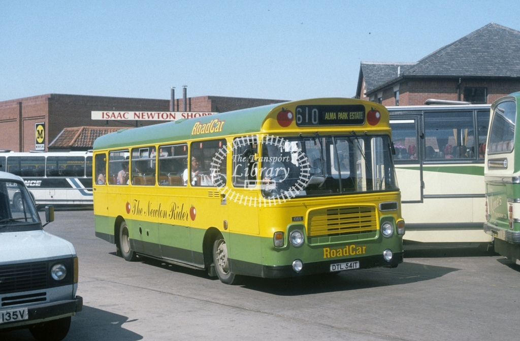 Lincolnshire Road Car Bristol LH6L 1065 DTL541T  at Grantham  in 1988 - Aug - Roy Marshall
