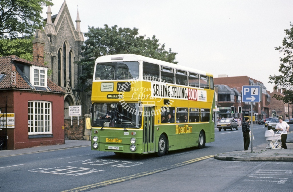 Lincolnshire Road Car Leyland AN68 1316 BNE751N  at Newark  in 1990 - Aug - Roy Marshall