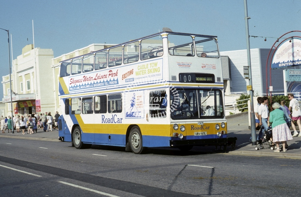 Lincolnshire Road Car Leyland AN68 1317 UBV87L  at Skegness  in 1994 - Jul - Roy Marshall