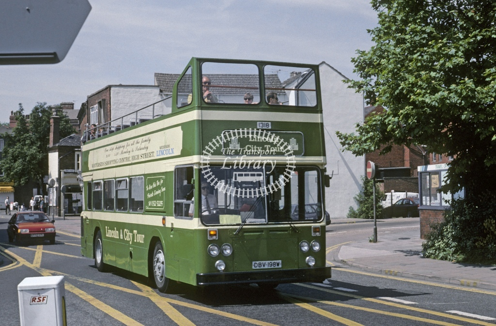 Lincolnshire Road Car Leyland AN68 1318 DBV198W  at Lincoln   in 1994 - Jul - Roy Marshall