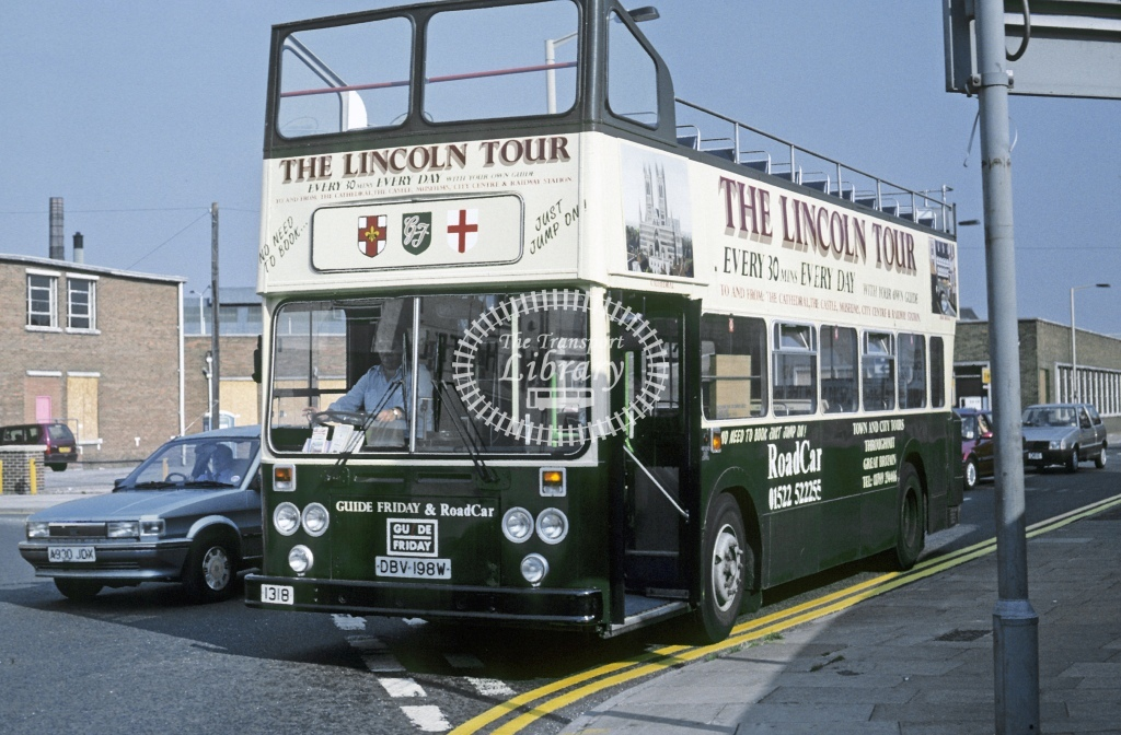 Lincolnshire Road Car Leyland AN68 1318 DBV198W  at Lincoln   in 1995 - Aug - Roy Marshall