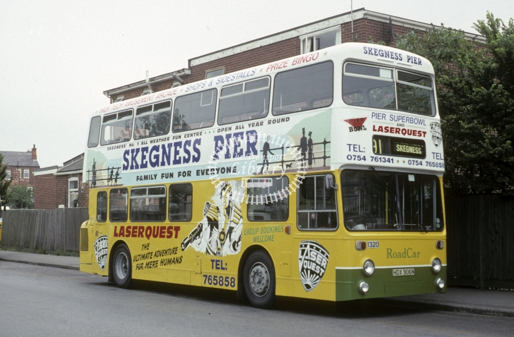 Lincolnshire Road Car Leyland AN68 1320 HDX906N  at Skegness  in 1993 - Jul - Roy Marshall