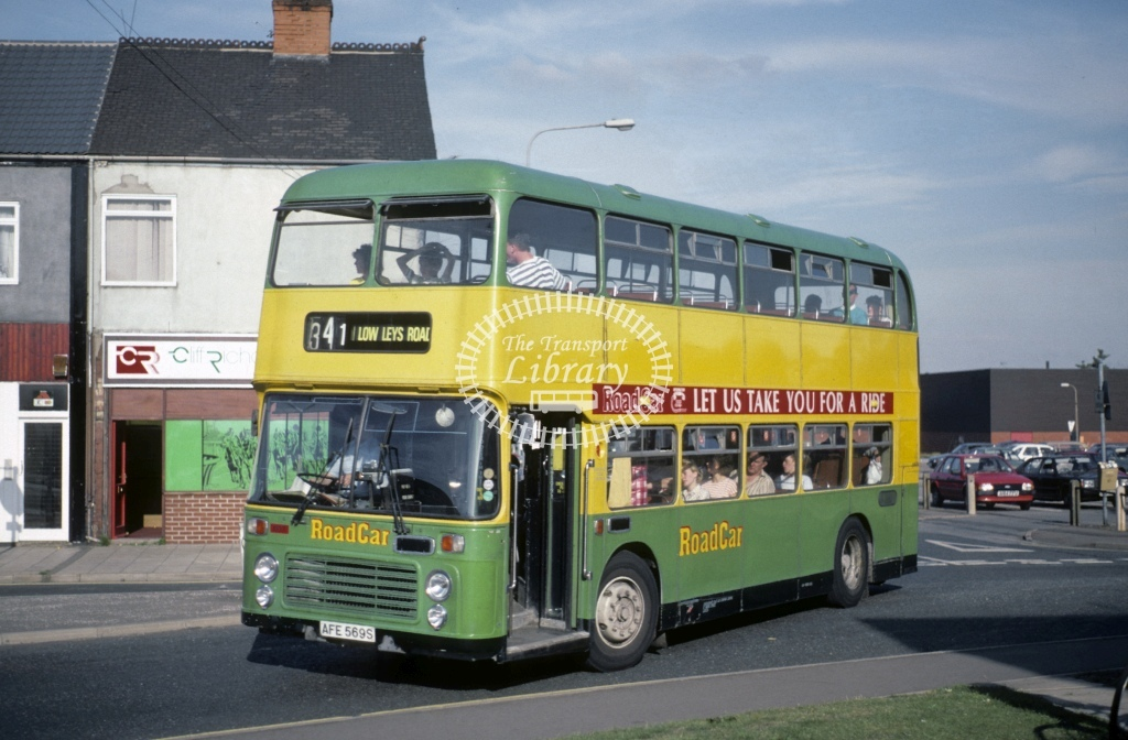 Lincolnshire Road Car Bristol VRTSL 1937 AFE569S  at Scunthorpe  in 1989 - Aug - Roy Marshall