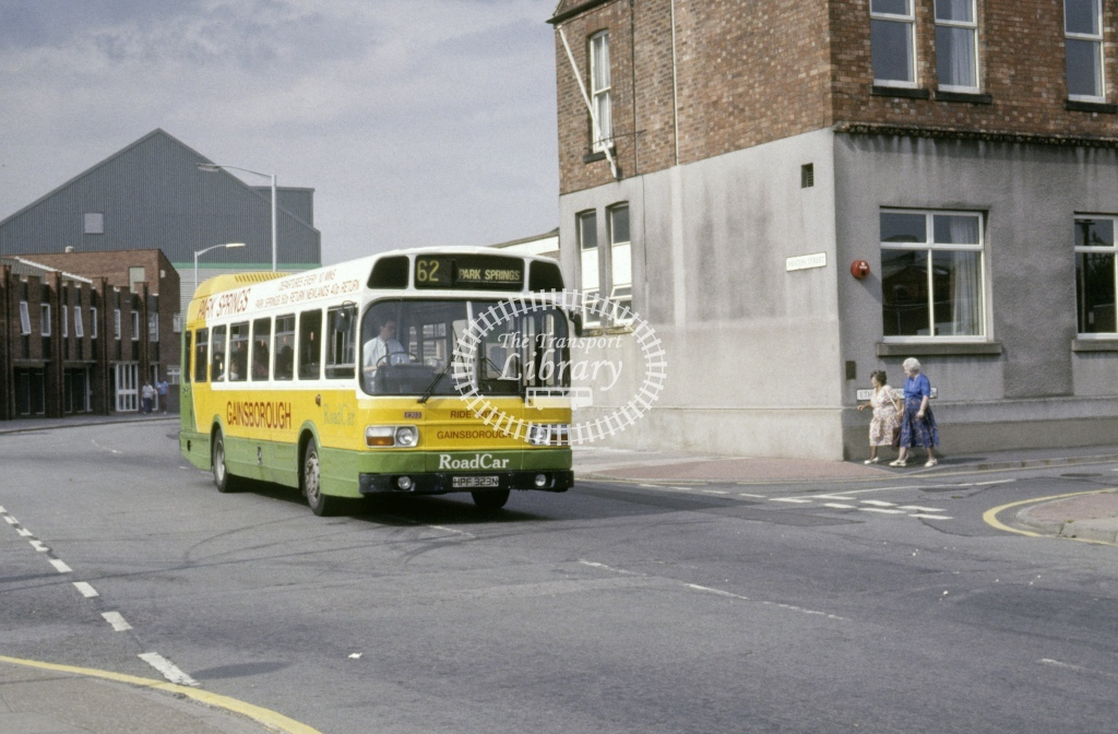 Lincolnshire Road Car Leyland National 2303 HPF323N  at Gainsborough  in 1992 - Aug - Roy Marshall