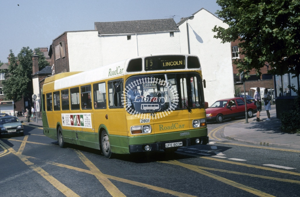 Lincolnshire Road Car Leyland National 2801 UFE803M  at Lincoln   in 1995 - Aug - Roy Marshall