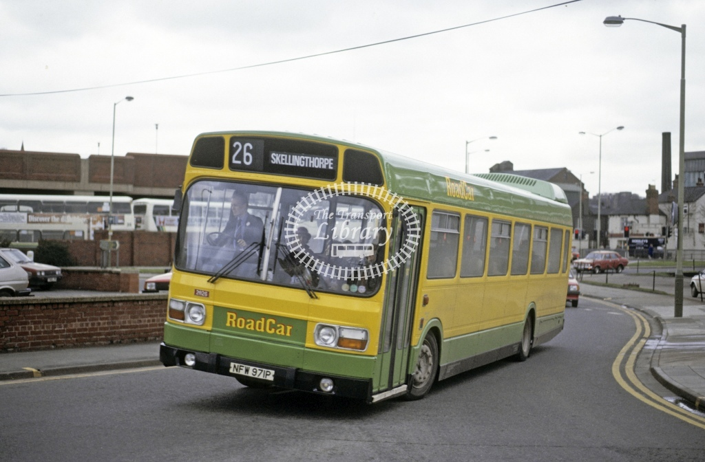 Lincolnshire Road Car Leyland National 2826 NFW971P  at Lincoln   in 1987 - Mar - Roy Marshall