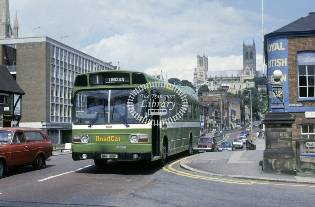 Lincolnshire Road Car Leyland National 2835 NRH168P  at Lincoln   in 1987 - Jul - Roy Marshall