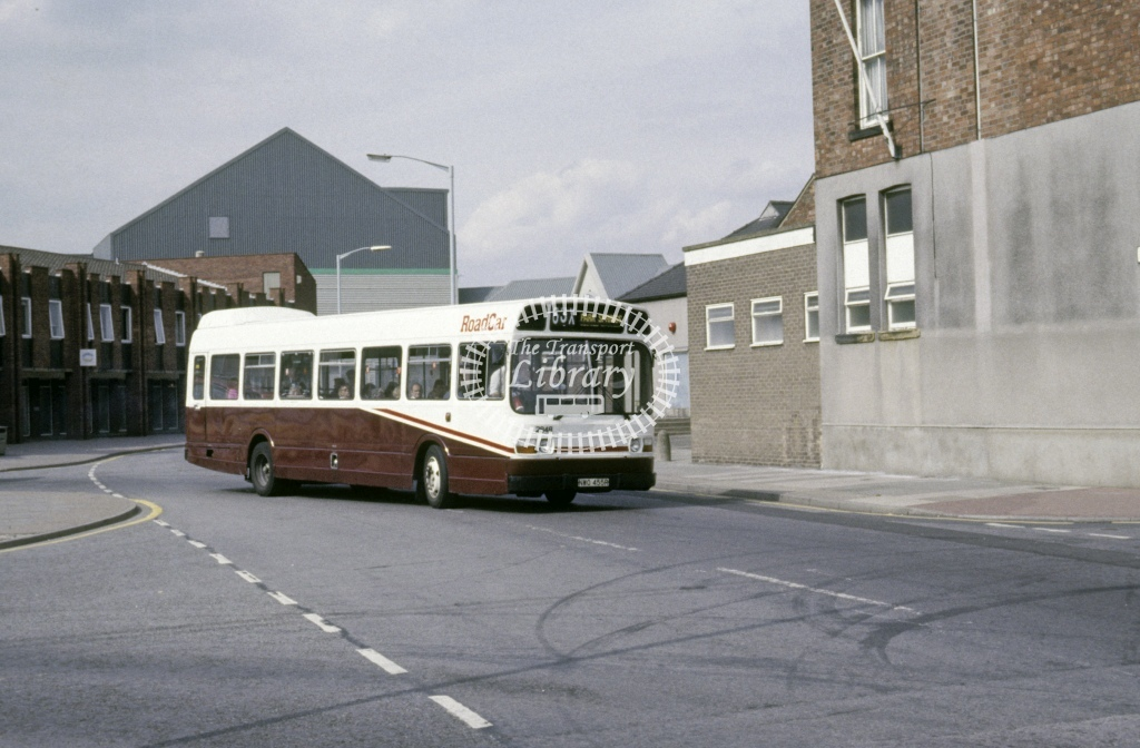 Lincolnshire Road Car Leyland National 2848 NWO455R  at Gainsborough  in 1992 - Aug - Roy Marshall