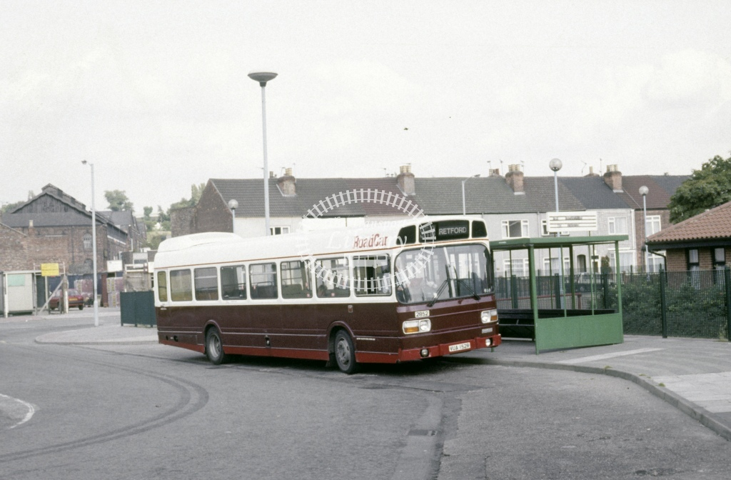 Lincolnshire Road Car Leyland National 2852 VUA152R  at Gainsborough  in 1992 - Aug - Roy Marshall