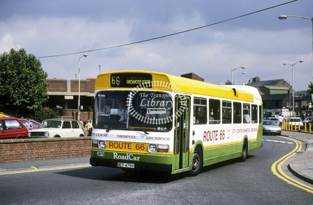 Lincolnshire Road Car Leyland National 2879 DET479V  at Lincoln   in 1992 - Aug - Roy Marshall