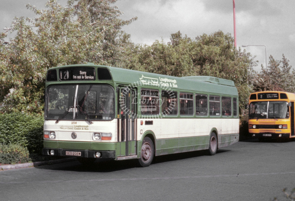 Loughborough Coach & Bus Leyland National 2594 SEO208M  at Leicester  in 1992 - Sep - Roy Marshall