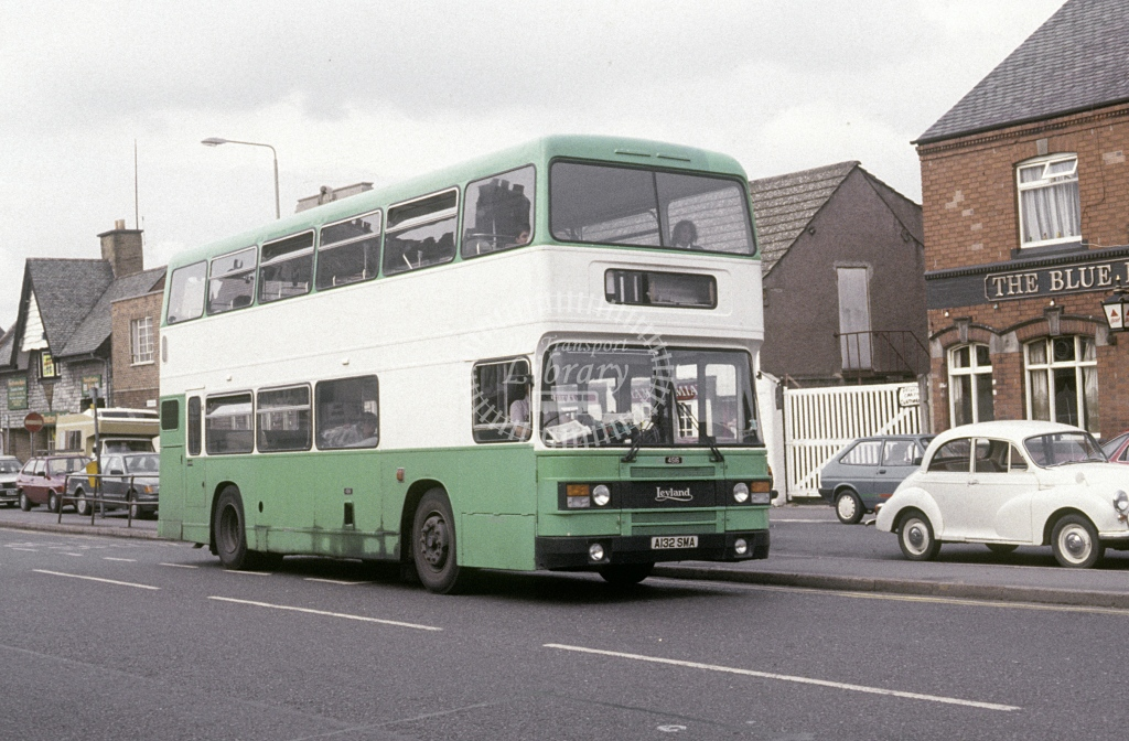 Loughborough Coach & Bus Leyland ONLX N/aDerelict A132SMA  at Loughborough  in 1989 - Aug - Roy Marshall