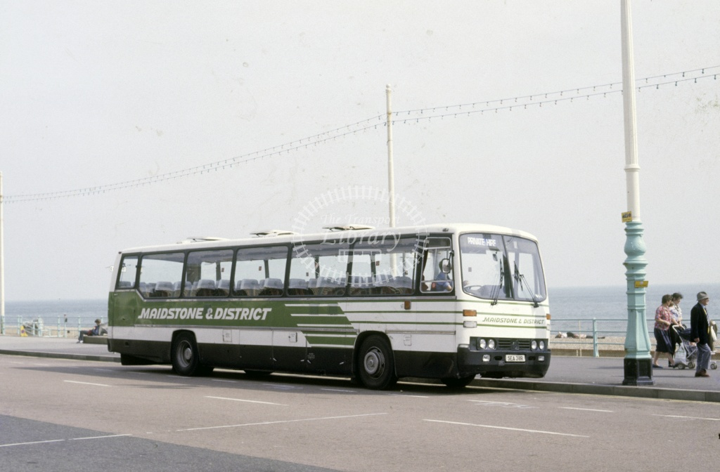 Maidstone and District Leyland PSU5B 4139 SEA311R at Brighton in 1987 - May 1987 - Roy Marshall