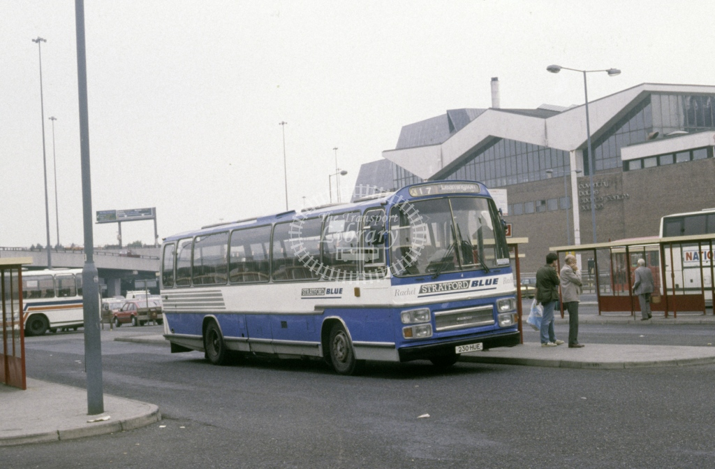 Midland Red South Leyland PSU3E 4 230HUE  at Coventry  in 1990 -  Sep  - Roy Marshall