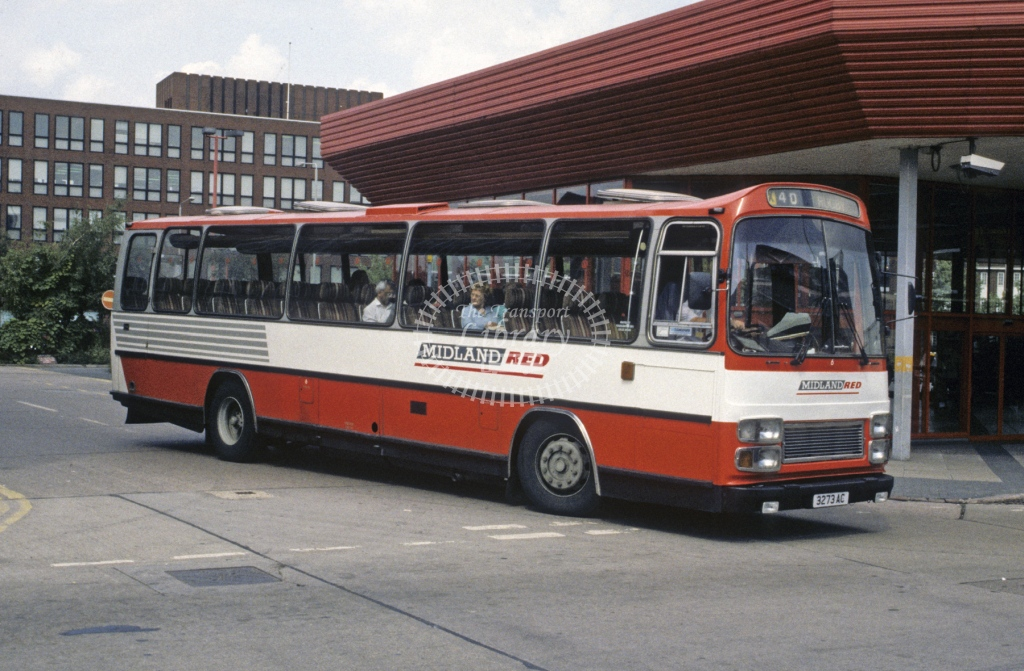 Midland Red South Leyland PSU3E 6 3273AC  at Leicester  in 1992 -  Aug  - Roy Marshall