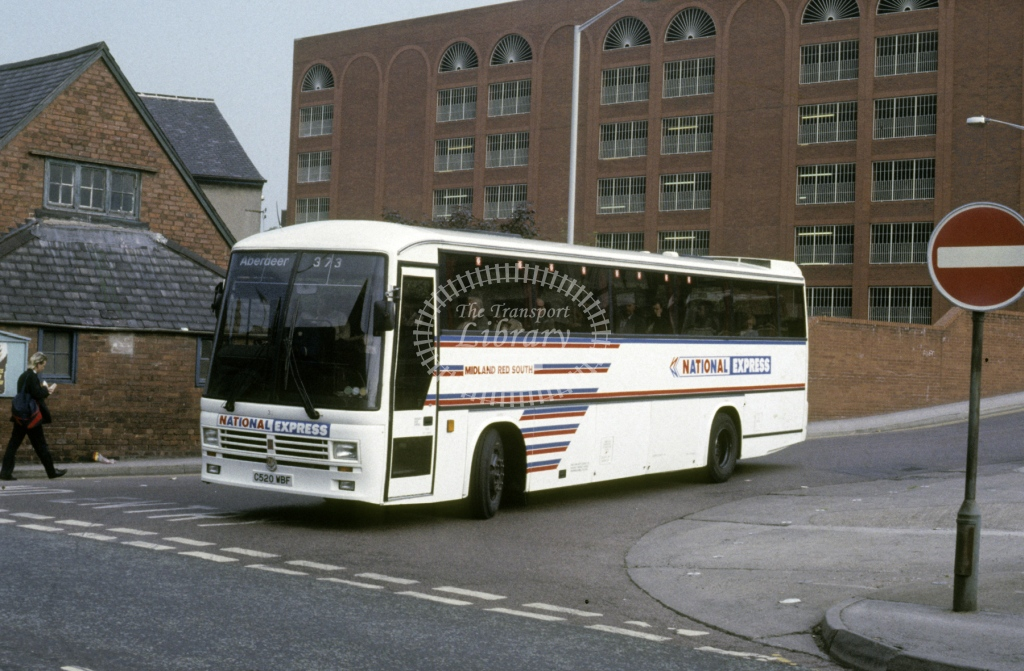 Midland Red South Leyland TRCTL 32 C520WBF  at Chesterfield  in 1988 -  Jun  - Roy Marshall