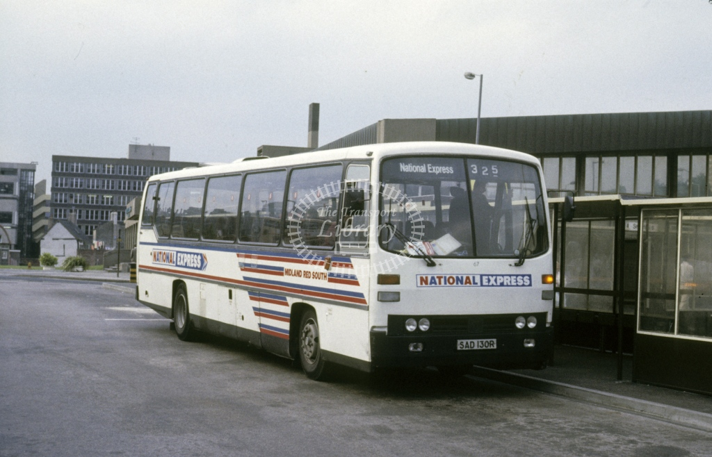 Midland Red South Leyland PSU3D 67 SAD130R  at Sheffield  in 1988 -  Jun  - Roy Marshall