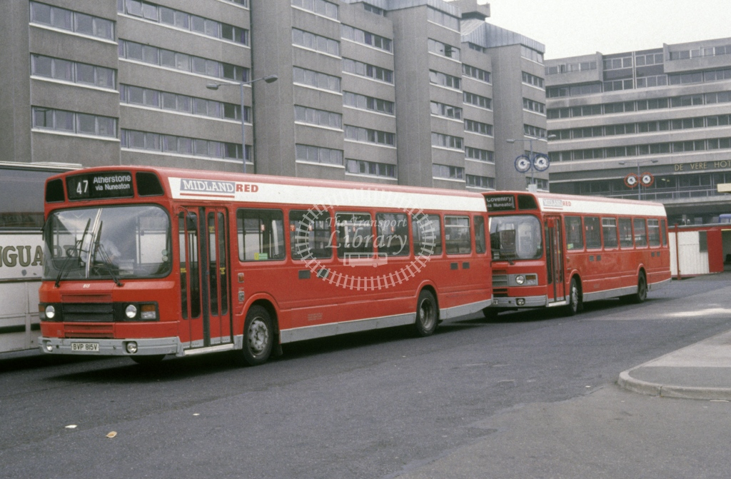 Midland Red South Leyland National 815 BVP815V  at Coventry  in 1990 -  Sep  - Roy Marshall