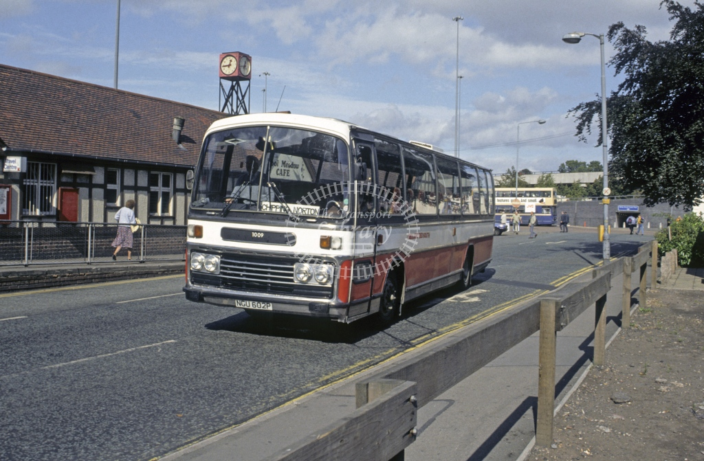 Midland Red South Bedford YMT 1009 NGU602P  at Coventry  in 1991 -  Sep  - Roy Marshall