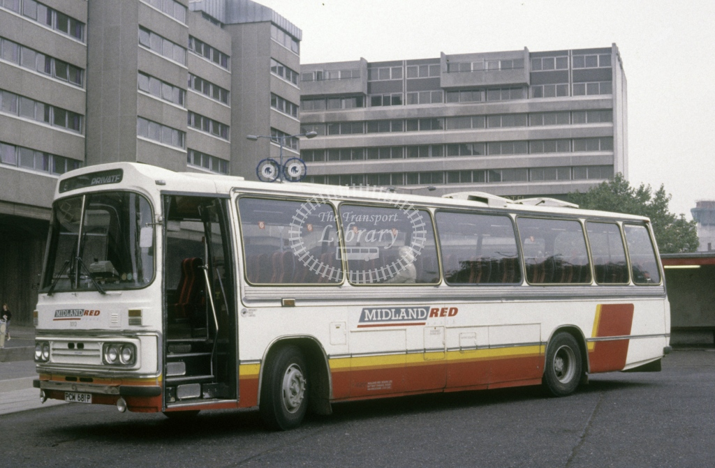 Midland Red South Leyland PSU3C 1012 PCW681P  at Coventry  in 1990 -  Sep  - Roy Marshall